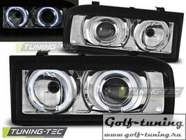 VW Corrado 88-95 Фары Angel eyes хром