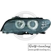 BMW E46 Купе / Кабрио 03-06 Фары с линзами и ангельскими глазками черные под ксенон