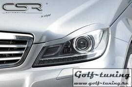 Mercedes Benz C-Klasse W204/C204/S204 11-  Реснички на фары
