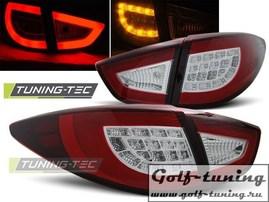Hyundai IX35 09- Фонари светодиодные, красно- белые с светодиодным поворотником