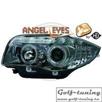 BMW E87 04-11 Фары Devil eyes, Dayline хром с светодиодным поворотником