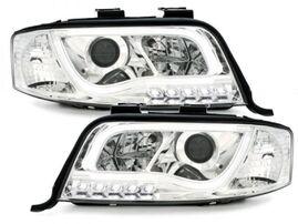Audi A6 C5 97-01 Фары Devil eyes, Dayline хром D-LITE EVO