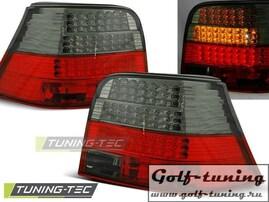 VW Golf 4 Фонари светодиодные, красно-тонированные