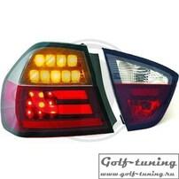 BMW E90 05-08 Седан Фонари светодиодные, красно-тонированные Lightbar design