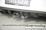 VW Golf 6 Диффузор для заднего бампера черный в стиле R