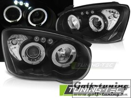 Subaru Impreza II GD 03-05 Фары angel eyes черные