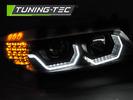 BMW E90/E91 05-08 Фары 3D  AE LED черные