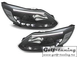 Ford Focus 11-15 Фары Devil eyes, Dayline черные D-LITE EVO