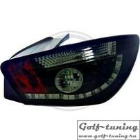 Seat Ibiza 6J 08-12 Фонари светодиодные, черно-тонированные