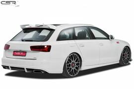 Audi A6 4G C7 14- Накладка на задний бампер/диффузор