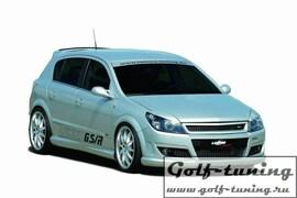 Opel Astra H 5D Решетка без значка с сеткой