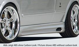 Opel Astra G Купе/кабрио Накладки на пороги Carbon Look