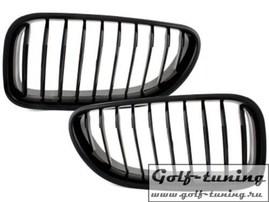 BMW F06 6er, M6 Grand Coupe 12- Решетки радиатора (ноздри) черные, глянцевые