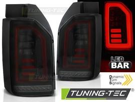 VW T6 15- Фонари светодиодные, красно-тонированные, lightbar design