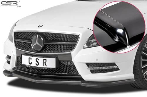 Mercedes Benz CLS C218 / X218 AMG-Line 11-14 Накладка на передний бампер глянцевая