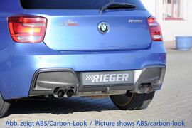BMW F20/F21 11-15 Диффузор для заднего бампера черный, глянцевый