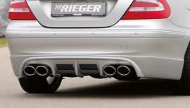 Mercedes W209 Cabrio/Coupe Накладка на задний бампер