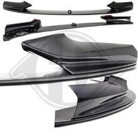 BMW F10/F11 10-13 Спойлер переднего бампера M-TECH->Performance carbon look