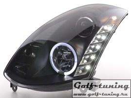 Infiniti G35 Coupe 03-07 Фары Devil eyes, Dayline черные под ксенон