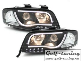 Audi A6 4B 97-01 Фары Devil eyes, Dayline черные D-LITE EVO
