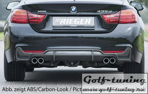 BMW F32/F33/F36 Диффузор для заднего М бампера черный