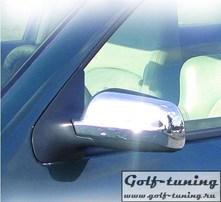 VW Polo 9N 01- Накладки на зеркала хром