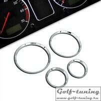 Opel Corsa B Комплект хромированных колец в приборную панель