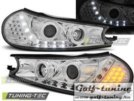 Ford Mondeo 96-00 Фары Devil eyes, Dayline с светодиодным поворотником хром