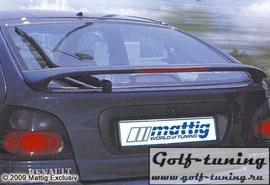 Renault Megane 95-99 Спойлер на крышку багажника с стоп сигналом