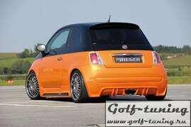 Fiat 500 07- Пороги Carbon Look