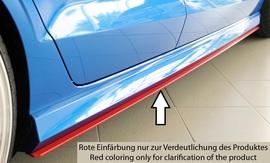Audi A3 8V 11-16/16- Кабрио Накладки на S-line пороги