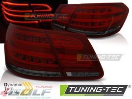 Mercedes W212 13-16 Фонари светодиодные, красно- белые с бегающим поворотником