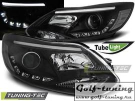 Ford Focus 3 11-14 Фары Tube lights черные