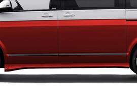 VW T5 03-15/T6 15-20 Накладки на пороги для авто с короткой базой