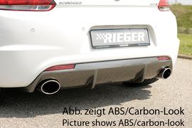 VW Scirocco 08-14/14- R-Line Диффузор для заднего бампера черный, глянцевый