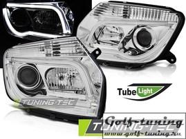 Renault Duster 10-14 Фары Tube Light хром