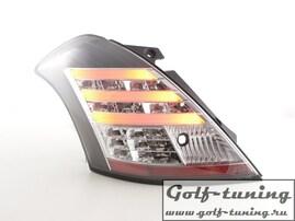 Suzuki Swift 11-13 Фонари светодиодные, черные
