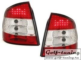 Opel Astra G Седан/Хэтчбек Фонари светодиодные, красно-белые