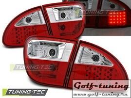 Seat Leon 99-04 Фонари светодиодные, красно-белые