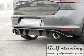 VW Golf 7 12-17 Диффузор для заднего бампера глянцевый