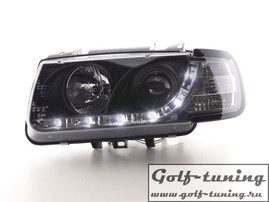 VW Polo 6N 94-99 Фары Devil eyes, Dayline черные