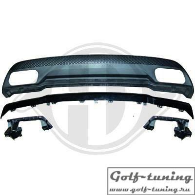Mercedes W176 13-15 Накладка на задний бампер в стиле AMG A45