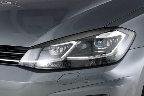 VW Golf 7 Facelift 17- Реснички на фары