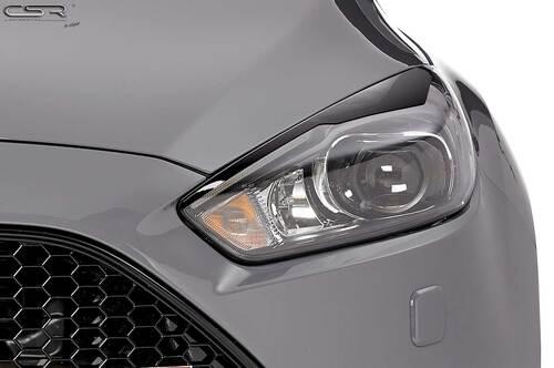 Ford Focus MK3 Facelift 14-18 Реснички на фары глянцевые Bad Eyes