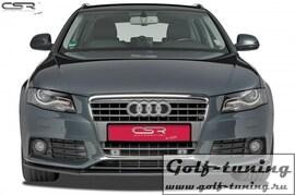 Audi A4 B8 07-11 Накладка на передний бампер Cupspoilerlippe Carbon Look