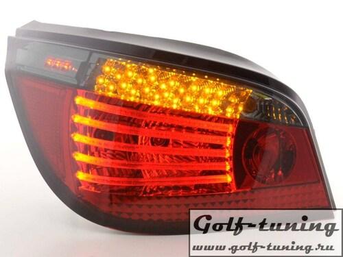 BMW E60 03-07 Седан Фонари светодиодные, красно-тонированные
