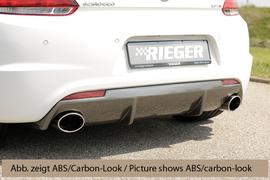 VW Scirocco 08-14/14- R-Line Диффузор для заднего бампера глянцевый
