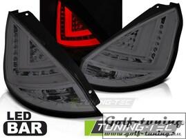 Ford Fiesta MK7 12-15 Хэтчбэк Фонари Led bar светодиодные, тонированные
