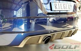 Audi TT (8J-FV/8S) S-Line 14- Накладка на задний бампер/диффузор carbon look