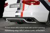 Audi A4 B8 11-15 Диффузор для заднего бампера carbon look